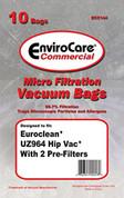 Advance Replacement ECC144 PAPER BAG, EUROCLEAN UZ964 HIPVAC 10PK W/2 FILTERS ADR-14625