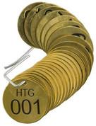 BRADY 23268 SET BRASS VALVE TAGS HTG 1-1/2^ DIA NUMBERED 1-25 BRADY CORPORATION SIGNMARK DIVISION 123509 123509