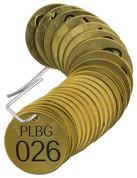 BRADY 23261 SET BRASS VALVE TAGS PLBG 1-1/2^ DIA NUMBERED 26-50 BRADY CORPORATION SIGNMARK DIVISION 909981 909981