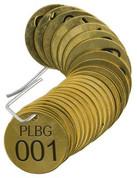 BRADY 23260 SET BRASS VALVE TAGS PLBG 1-1/2^ DIA NUMBERED 1-25 BRADY CORPORATION SIGNMARK DIVISION 136356 136356