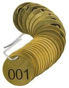 BRADY 23200 SET BRASS VALVE TAGS BLANK 1-1/2^ DIA NUMBERED 1-25 BRADY CORPORATION SIGNMARK DIVISION 119973 119973