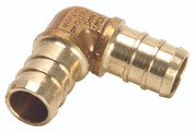 "Zurn 101910 GIDDS- Pex Brass Drop Ear Elbow, 1/2"" Barb x 1/2"" Fpt, Lead Free"