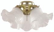 BALA® TULIP STYLE FAN LIGHT KIT, 3 LIGHT, ANTIQUE BRASS 103638