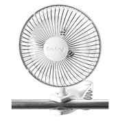 AIR KING SPRING LOADED CLIP-ON OFFICE FAN WITH ADJUSTABLE HEAD, COMMERCIAL GRADE, 2-SPEED, 6 IN. SX-0463378 SX-0463378