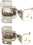 EURO 2-WAY ADJUSTABLE MATRIX CONCEALED HINGE 1-1/4 IN. OVERLAY 1 PAIR NICKEL FINISH 70-06763 70-06763