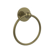 Allied Brass 1016-ABR Skyline Collection Towel Ring  Antique Brass