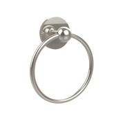 Allied Brass 1016-PNI Skyline Collection Towel Ring  Polished Nickel