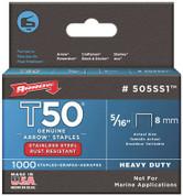 "ARROW T50™ STAINLESS STEEL STAPLES, 5/16"" 160696"