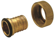 "BRASS ADAPTER - 1"" SWIVEL X 1"" BARB 134942"