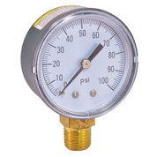 PRESSURE GAUGE 0 TO 200 PSI, 2 IN. FACE, LEAD FREE 522997
