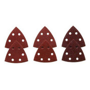 BOSCH RED DETAIL SANDER ABRASIVE TRIANGLES FOR WOOD, ASSORTED GRITS, 3-1/2 IN., 6 PACK 2466404 2466404