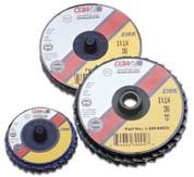 "3"" Flap Discs, Roloc-Type T27 Zirconia Regular 80 Grit CGW Abrasive CGW30015 CGW30015"