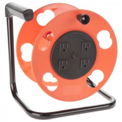 Extension Cord Storage Reel, Polarized Plug with Four Grounded Outlets, 15 Amp Circuit Breaker Bayco BAYSL2000PDQ BAYSL2000PDQ