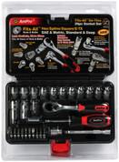 29 pc 1/4 in Drive Go-Thru Fits All Socket Set Ampro Tools AMPT45970 AMPT45970