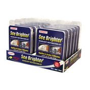 See Brighter Headlight Restoration Kit, Non-Abrasive, 5 Minute 2 Step Process, for Two Headlights Airsept AIR60650 AIR60650