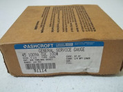 "Ashcroft 451009A02L-0/100 ""4.5"""" 0-100# PRESS GAUGE 1/4""""L"" 451009A02L-0/100"