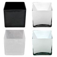 "Glass Cubes 4""x 4""x 4"" - More Colors Available (12 Per Case)"