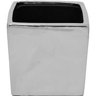 Viz Floral 6x6x6 floral glass cube Silver