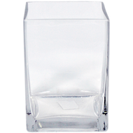 Viz Floral 4x4x6 rectangular glass vase