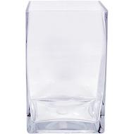 Viz Floral 5x5x8 rectangular glass vase