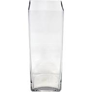 Viz Floral 5x5x12 rectangular glass vase