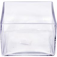 Viz Floral 6x6x4 rectangular glass vase