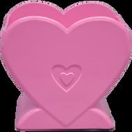 """Viz Floral Standing Heart 5"""" x 3.25"""" X 5"""" Pink"""