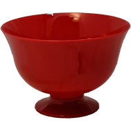 "Viz Floral Fruit Bowl 7 1/2"" Red"