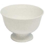 "Viz Floral Fruit Bowl 9 1/2"" Stone White"