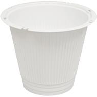 Viz Floral 8x6 funeral basket vase white