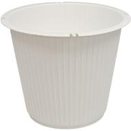 Viz Funeral Basket Vases 7 1/4 X 7 1/4 white