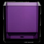 "All Floral Plastic Cube 5"" Purple"