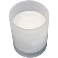 Viz Floral frosted votive candle