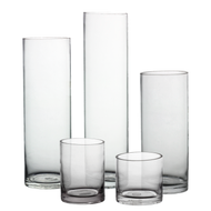 "Glass Cylinder 3"" Diameter- Multiple height options available"