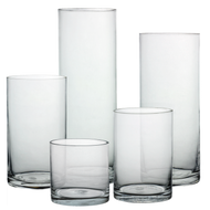 "Glass Cylinder 4"" Diameter - Multiple height options available"