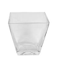 "Glass Tapered Vase 4.5"" X 3"" X 4.75"""