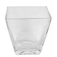 "Glass Tapered Vase 6"" X 3.5"" X 6"""