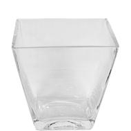 "Glass Tapered Vase 7"" X 4.5"" X 7"""