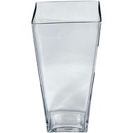 "Glass Tapered Vase 4"" X 4"" X 8"""