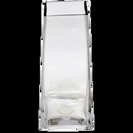 "Viz Floral Glass Tapered Vase 4"" X 4"" X 7"""
