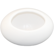 "Ceramic Vase 10"" x 7"" x 6"" White"