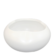 "Ceramic Vase 9"" x 5"" White"