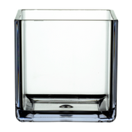 """All Floral Plastic Cube 4"""" Clear"""