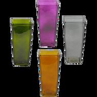 "Glass Vase 5""x 3 ½""x 11 ¾"" Assorted Colors (12 Per Case)"