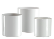 "Plastic Cylinder Set White 4""x 4"" and 5""x 5"" and 6""x 6"""