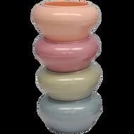 "Viz Floral Potpourri Dish 7.25"" Pastel Assorted"