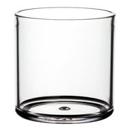 "Plastic Cylinder Vase 5""x 5"" Clear (4 Per Case)"