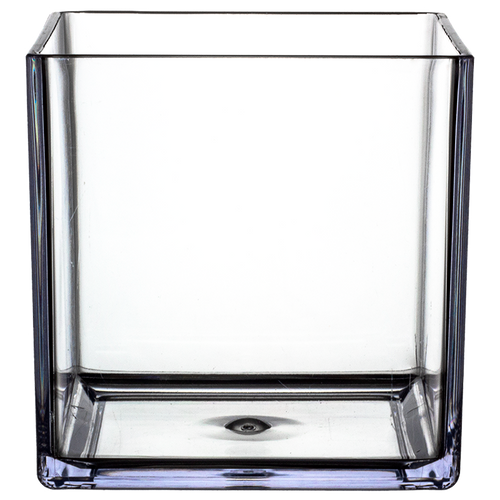 """All Floral Plastic Cube 6"""" Clear"""