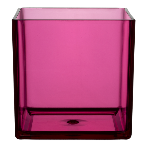 """All Floral Plastic Cube 6"""" Pink"""