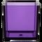 "All Floral Plastic Cube 6"" Purple"